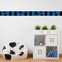 malango® eDesign - Fußball-Bordüre schwarz blau