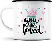 malango Emaille-Tasse You are loved Emaillebecher
