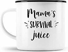 malango Emailletasse Mama's Survival Juice
