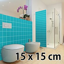malango® Fliesenaufkleber 15 x 15 cm Klebefliesen Fliesendekor Bad Küche Wandfliesendekoration Fliesendesign 100 Stück beige - MATT