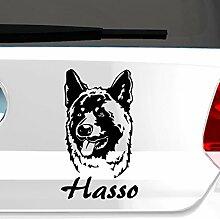 malango® Hund Akita mit Wunschname Autoaufkleber