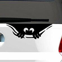 malango® Kleines Monster Autoaufkleber Autosticker Aufkleber Sticker süsse Augen ca. 30 x 10 cm mattschwarz mattschwarz ca. 30 x 10 cm