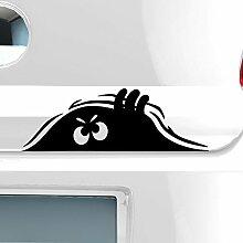 malango® Kleines Monster Monsteraugen Autoaufkleber Autosticker Aufkleber Sticker ca. 60 x 20 cm schwarz schwarz ca. 60 x 20 cm