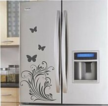 malango® Kühlschrankaufkleber Blumen Blütenzauber Aufkleber Sticker Design Styling Blüten ca. 25 x 51 cm braun