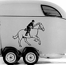 malango® Pferd mit Reiter Autoaufkleber