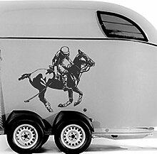 malango® Polo Spieler und Pferd Aufkleber Auto