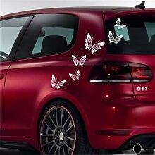 malango® Schmetterlinge Autoaufkleber Auto Aufkleber Styling Design Tuning Butterfly Siehe Beschreibung gold gold Siehe Beschreibung