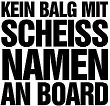 malango® Shocker Kein Balg mit scheiß Namen an Board Autoaufkleber Autosticker Auto Sticker ca. 15 x 15 cm weiß weiß ca. 15 x 15 cm