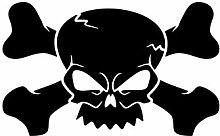 malango® Skulls 2 Totenkopf Shocker Knochen Sticker Aufkleber Skelett Auto 30 x 19 cm anthrazit anthrazit 30 x 19 cm