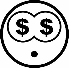 malango® Smiley Money groß Aufkleber Sticker