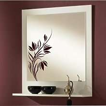 malango® Spiegelaufkleber Blumenranke Aufkleber Spiegel Blume Ranke Blumen Flower Sticker ca. 30 x 14 cm violett violett ca. 30 x 14 cm