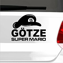 malango® Super Mario Götze Aufkleber Autoaufkleber Sticker Shocker Fußball WM Weltmeisterschaft 2014 60 x 45 cm shellgelb shellgelb 60 x 45 cm