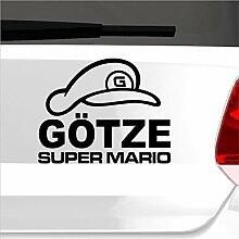malango® Super Mario Götze Aufkleber Autoaufkleber Sticker Shocker Fußball WM Weltmeisterschaft 2014 20 x 16 cm dunkelblau dunkelblau 20 x 16 cm