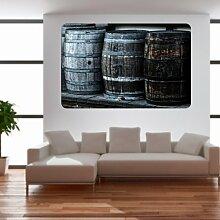 malango® Vintage Whiskyfässer Wandtattoo Tattoo Auto Dekoration Styling Design Aufkleber Fass Whiskey 60 x 92 cm digitalgedruckt digitalgedruckt 60 x 92 cm