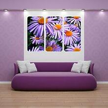 malango® Wandbild Zauberhafte Blumen Triptychon Aufkleber Wandaufkleber Dekoratoin Design Styling 40 x 61 cm digitalgedruckt digitalgedruckt 40 x 61 cm