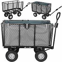 MALATEC Bollerwagen Gartenwagen Handwagen mit