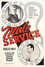 Male Service Poster 01 Metal Sign A4 12x8 Aluminium