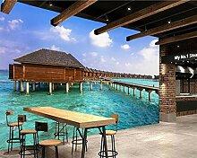 Malediven 3D-Tapete für Wohnzimmer, Sofa,