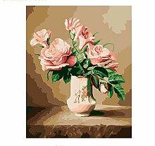 Malen Nach Zahlen Europa Blumenvase Diy Acrylbild