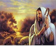 Malen Nach Zahlen Sonnenuntergang Jesus Malen Nach