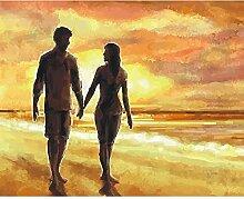 Malen Nach Zahlen Sonnenuntergang Strand Paar