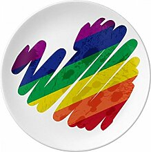 Malerei Herz LGBT Rainbow Porzellan Dekoration
