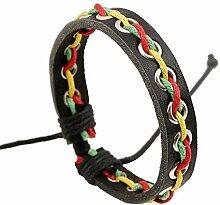 MAlex Armband Charms Männer Frauen rot, grün und