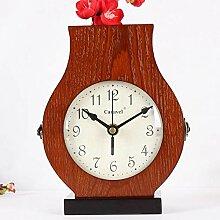 MAlex Kaminuhren,Holzvase Doppelte Uhr lebende