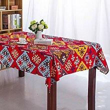 MAlex Tischdecken Europäischen roten Rechteck
