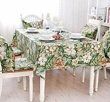 MAlex Tischdecken Rechteck Bambus Blumen Baumwolle