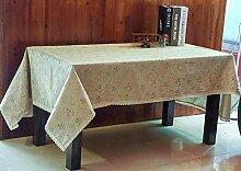 MAlex Tischdecken Rechteck Baumwolle Leinen