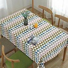 MAlex Tischdecken Rechteck dreieckige geometrische
