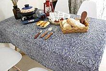 MAlex Tischdecken Rechteck einfache Baumwolle