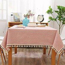 MAlex Tischdecken Rechteck einfache Streifen