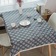 MAlex Tischdecken Rechteck wollen Baumwolle Leinen