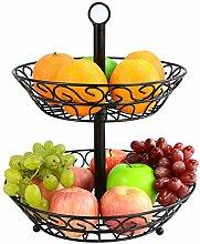 MALFI Obst Etagere Metall, Größe 30 cm, Farbe
