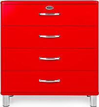 Malibu 5124 - Kommode - Schubladenschrank - Rot