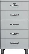 Malibu 5215 - Kommode - Schubladenschrank - Alu