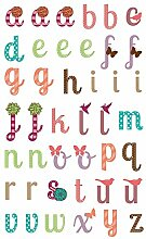 Malidor 3D-Aufkleber Buchstaben, 17,5x 9x 0,1cm, Kunststoff, verzierte Motive