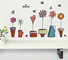Malilove Blumentopf Butterfly Wall Sticker Haus