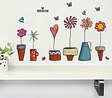 Malilove Blumentopf Butterfly Wall Sticker Haus Dekoration Diy Drucken Wall Art Home Aufkleber Kinder Geschenk