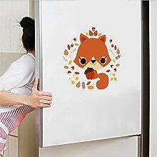 Malilove Weiblich Fox Mit Blumen Wc Aufkleber Bad Dekoration Tier Wandbild Kunst Diy Home Aufkleber Kühlschrank Poster