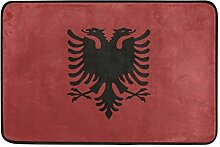 MALPLENA Albanien Flagge Bodenmatten Schuhe