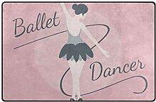 MALPLENA Ballett-T?nzer-Muster Teppich Einstieg