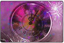 MALPLENA Bunte Vintage Uhr Teppiche für
