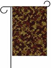 MALPLENA Camouflage Farbe Garten Flagge Premium