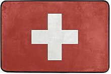 MALPLENA Flagge Schweiz Bodenmatten Schuhe Schaber