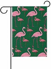 MALPLENA Flamingos Mutter und Baby Flagge Garten