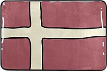 Malplena Fußmatte, Dänemark-Flagge,