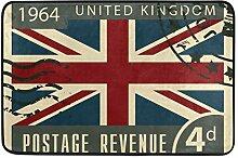 Malplena Fußmatte mit englischer Flagge, rutschfes